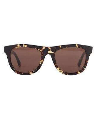 Spotted Havana Wayfarer Sunglasses, BROWN, hi-res