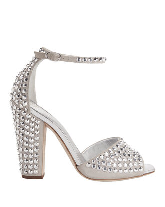 Lavinia Crystal Platform Sandals, GREY, hi-res
