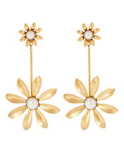 Emmalyn Floral Drop Earrings, GOLD, hi-res