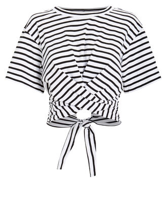 Jules T-Shirt, WHITE/BLACK STRIPES, hi-res