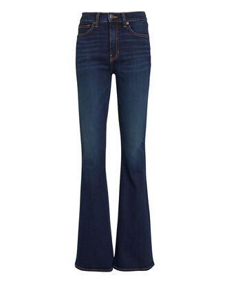 Beverly Flared High-Rise Jeans, DARK WASH DENIM, hi-res