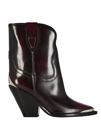 Leyane Glossy Leather Western Boots, MULTI, hi-res
