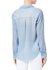 Ingrid Light Vintage Raw Hem Shirt, DENIM-LT, hi-res