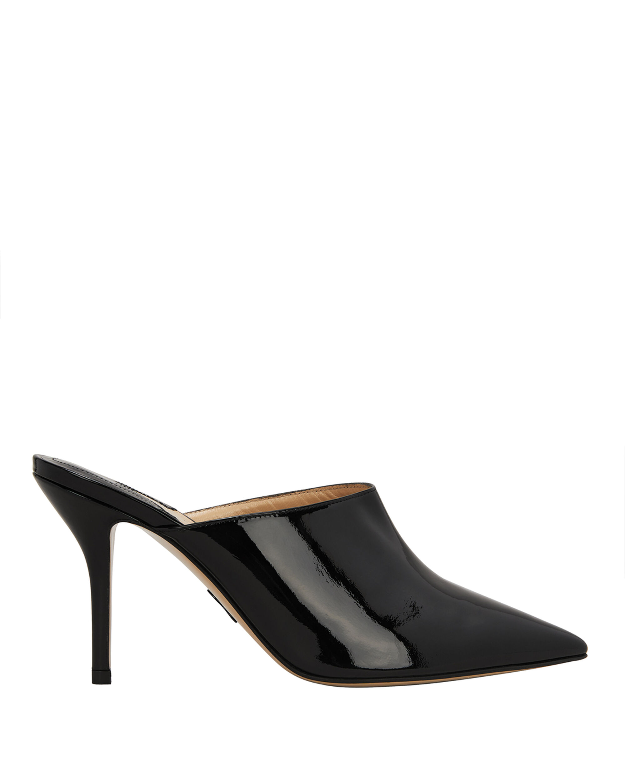 Certosa Patent Leather Mules, BLACK, hi-res