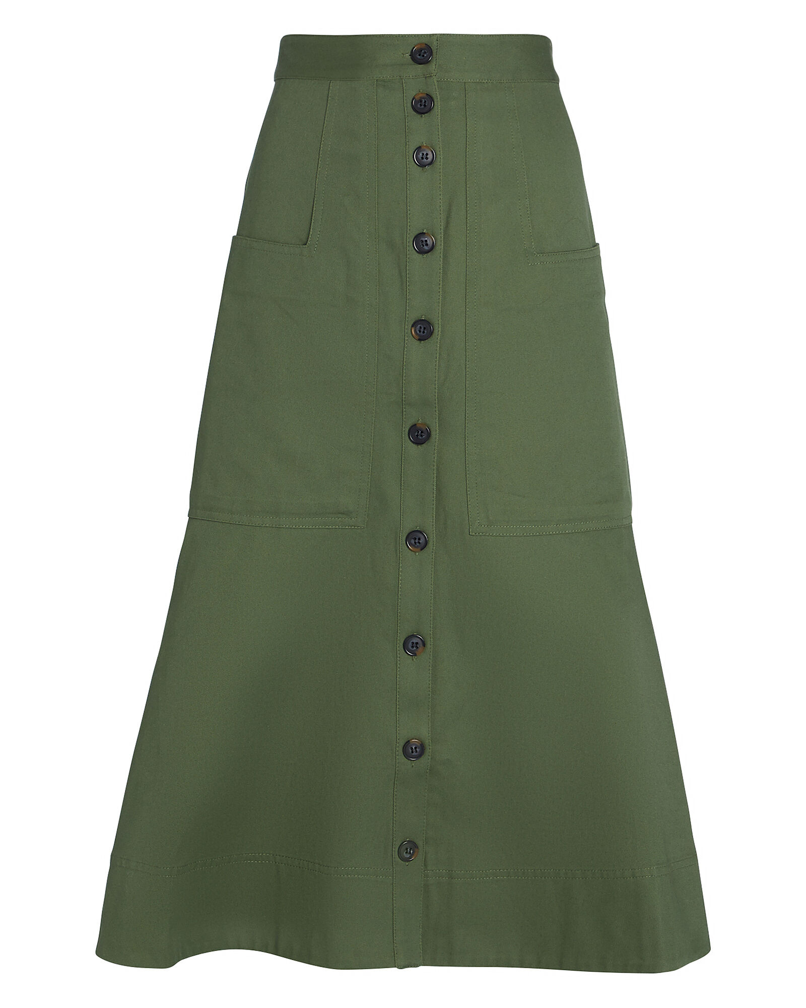 Harrison Chino Midi Skirt, OLIVE/ARMY, hi-res
