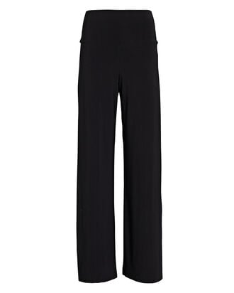 Jersey Straight-Leg Pants, BLACK, hi-res