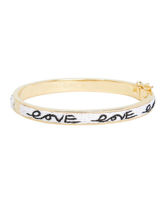 Petite Lux Amor Bangle, BLACK/WHITE/GOLD, hi-res