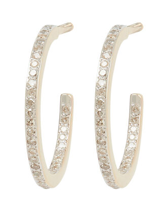 Small Pavé Hoop Earrings, GOLD, hi-res