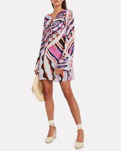 Burle Print Crepe Cover-Up, PINK/ABSTRACT, hi-res