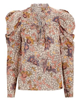 Remy Puff Sleeve Floral Blouse, MULTI, hi-res