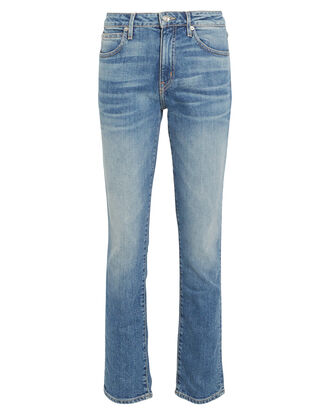 Leila Slim Straight-Leg Jeans, DENIM, hi-res