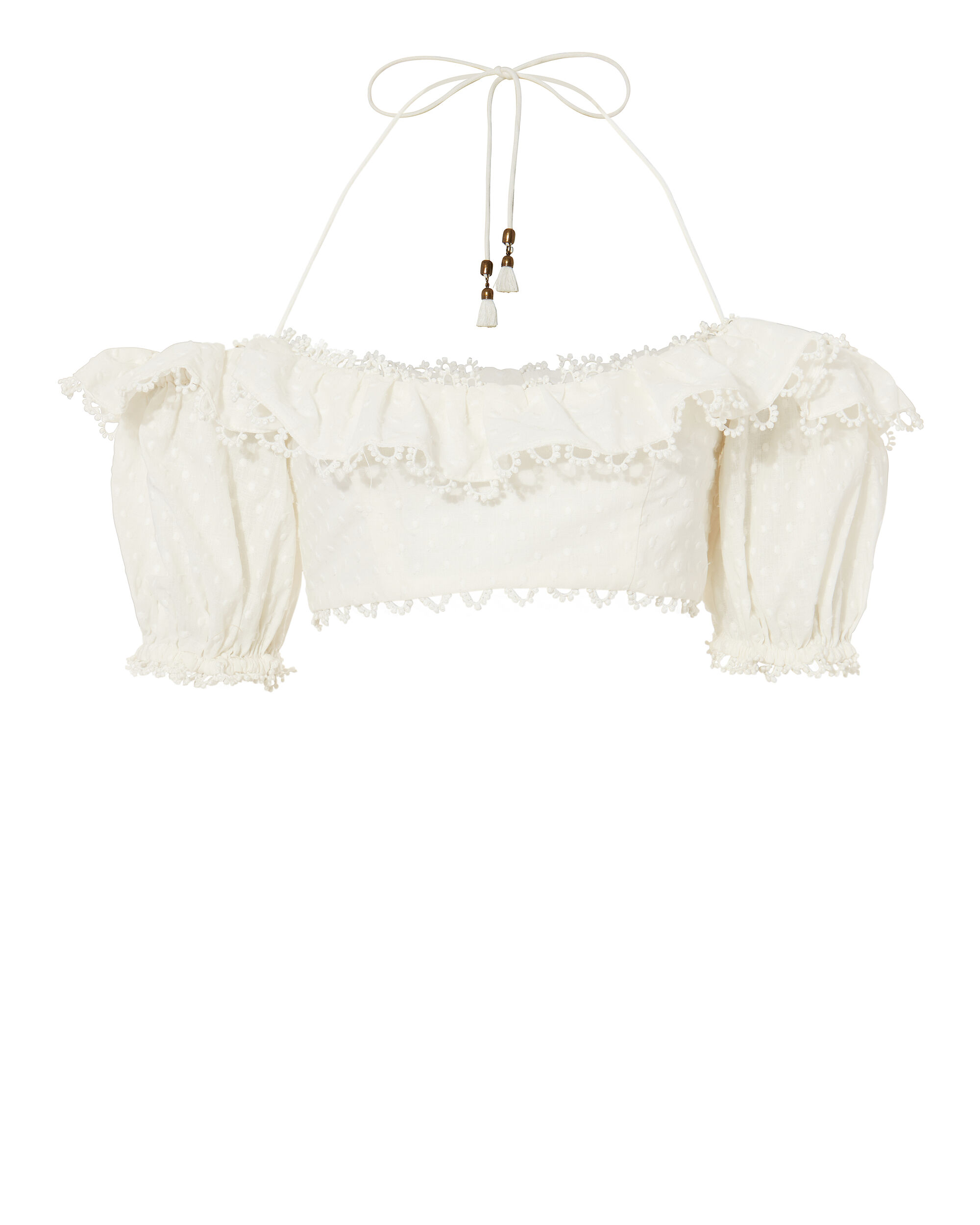 Melody Off Shoulder Crop Top, IVORY, hi-res