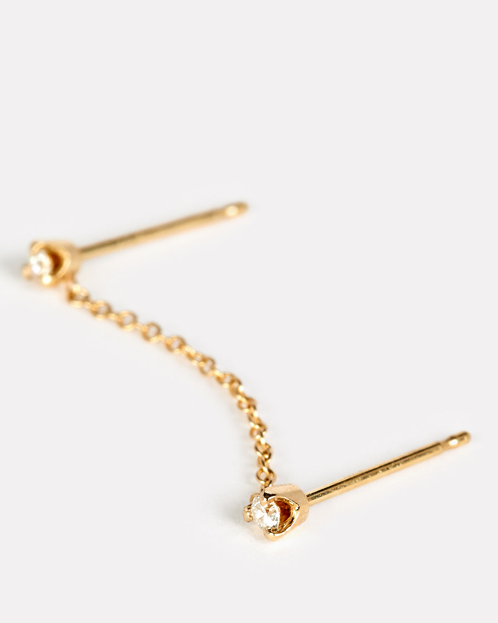 Linked Diamond Studs Earring, GOLD, hi-res