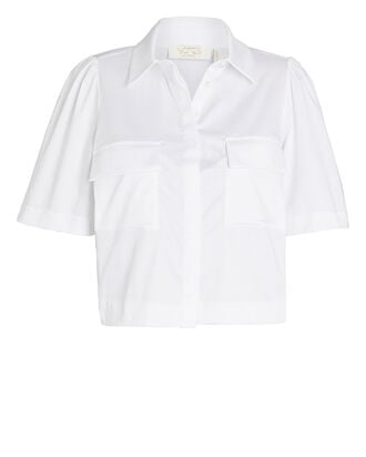 Pollie Cropped Button-Down Shirt, , hi-res