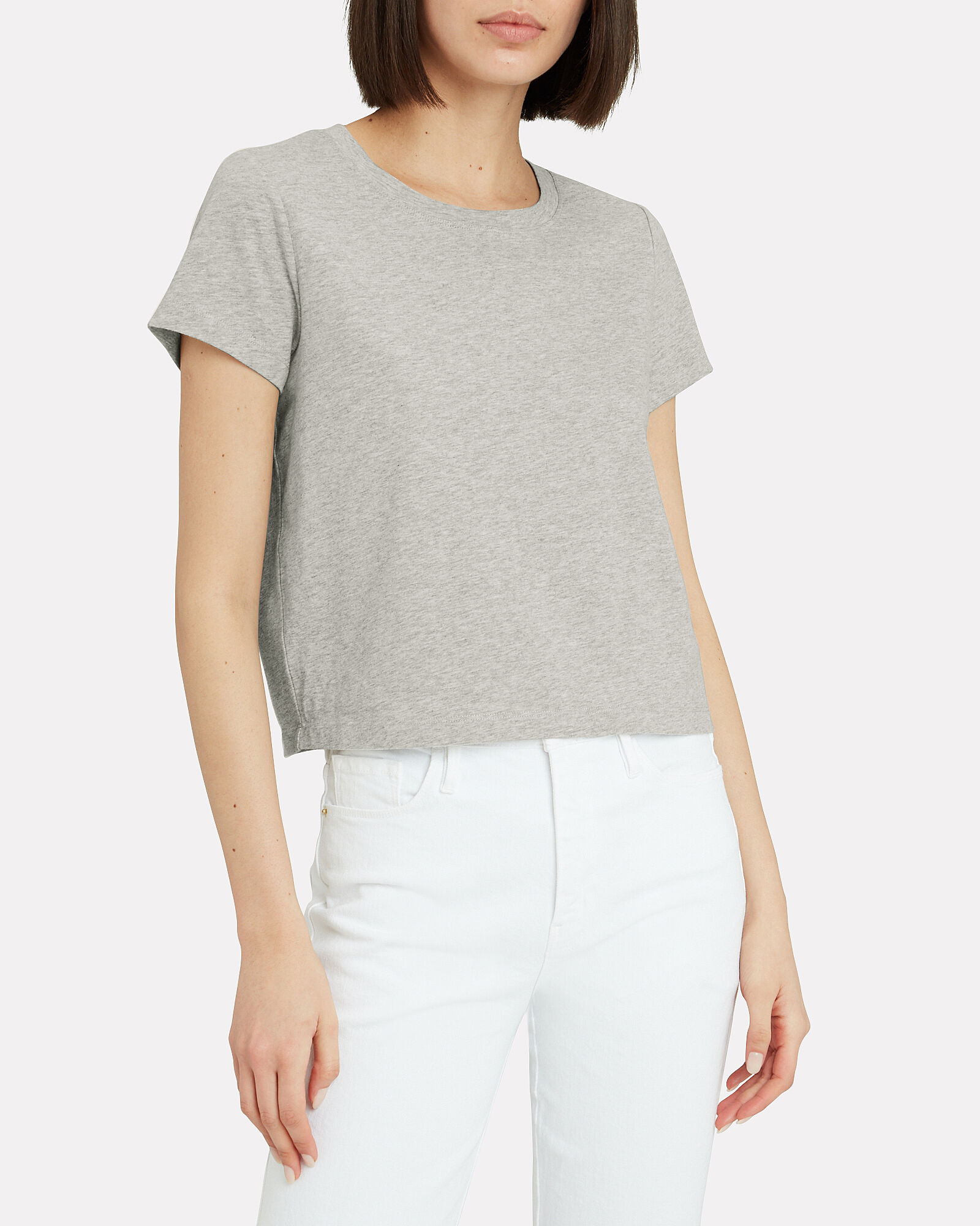 Classic Cropped Jersey T-shirt, , hi-res
