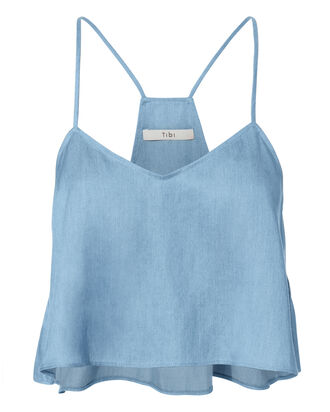 Denim Cropped Tank, DENIM-LT, hi-res