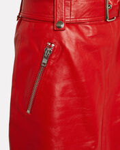 Magnolia Leather Mini Skirt, FIRE ENGINE RED, hi-res