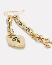 Folly Heart and Key Drop Earrings, GOLD/SILVER, hi-res
