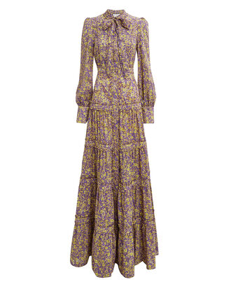 Margeaux Floral Maxi Dress, PURPLE/FLORAL, hi-res