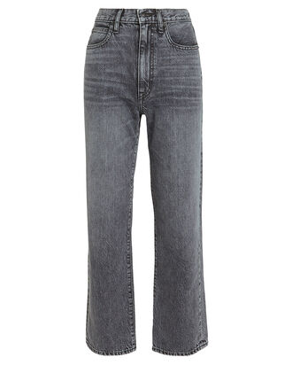 London High-Rise Straight Leg Jeans, ASH GREY, hi-res