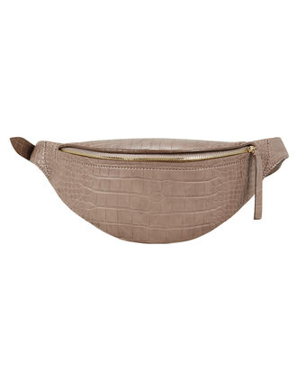 Lubo Croc-Effect Belt Bag, BROWN, hi-res