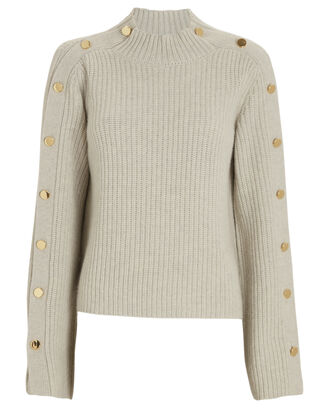Tessa Wool-Cashmere Sweater, LIGHT GREY, hi-res