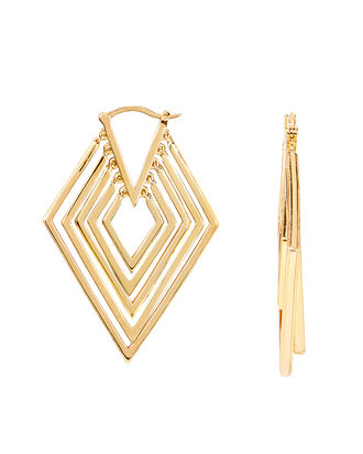 Mavek Earrings, GOLD, hi-res