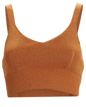 Jamina Metallic Crop Top, ORANGE, hi-res