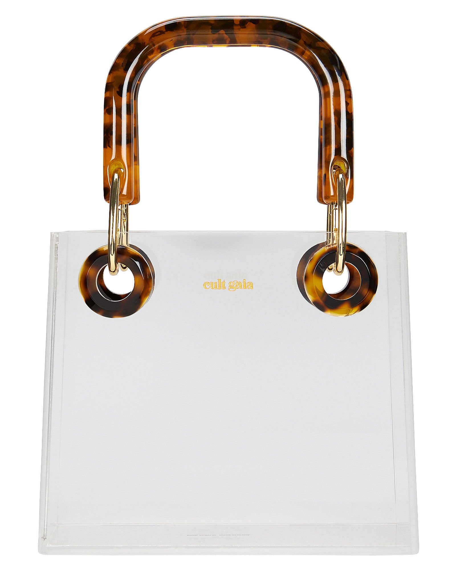 Geneva Acrylic Top Handle Bag, CLEAR, hi-res
