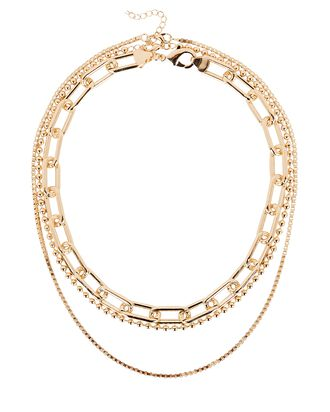 Soho Layered Chain-Link Necklace, GOLD, hi-res
