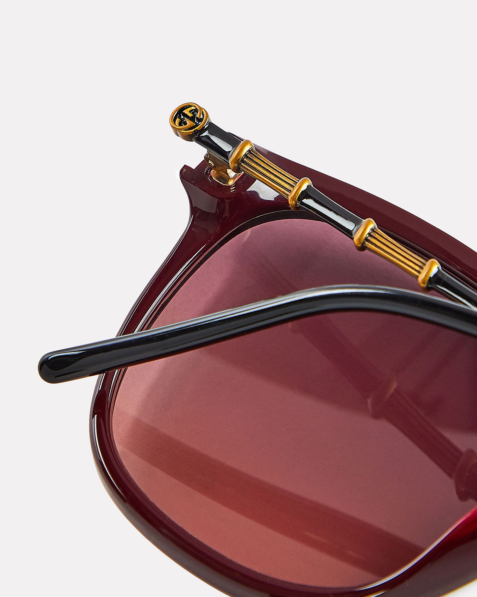 Oversized Wayfarer Sunglasses, RED-DRK, hi-res