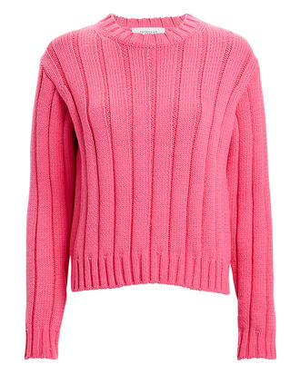 Iola Rib Knit Sweater, PINK, hi-res