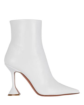Giorgia Leather Ankle Boots, WHITE, hi-res