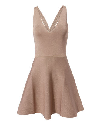 Rose Shimmer Fit-And-Flare Dress, ROSE, hi-res