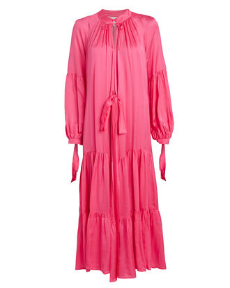 Helmut Satin Wrap Dress, PINK, hi-res