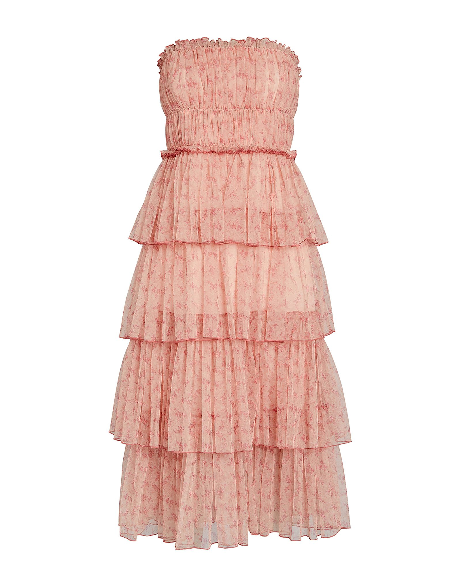 Harlyn Tiered Floral Tulle Dress, PALE PINK, hi-res