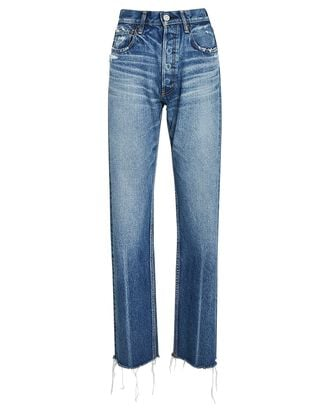 Ashley High-Rise Wide Straight Jeans, BLUE, hi-res