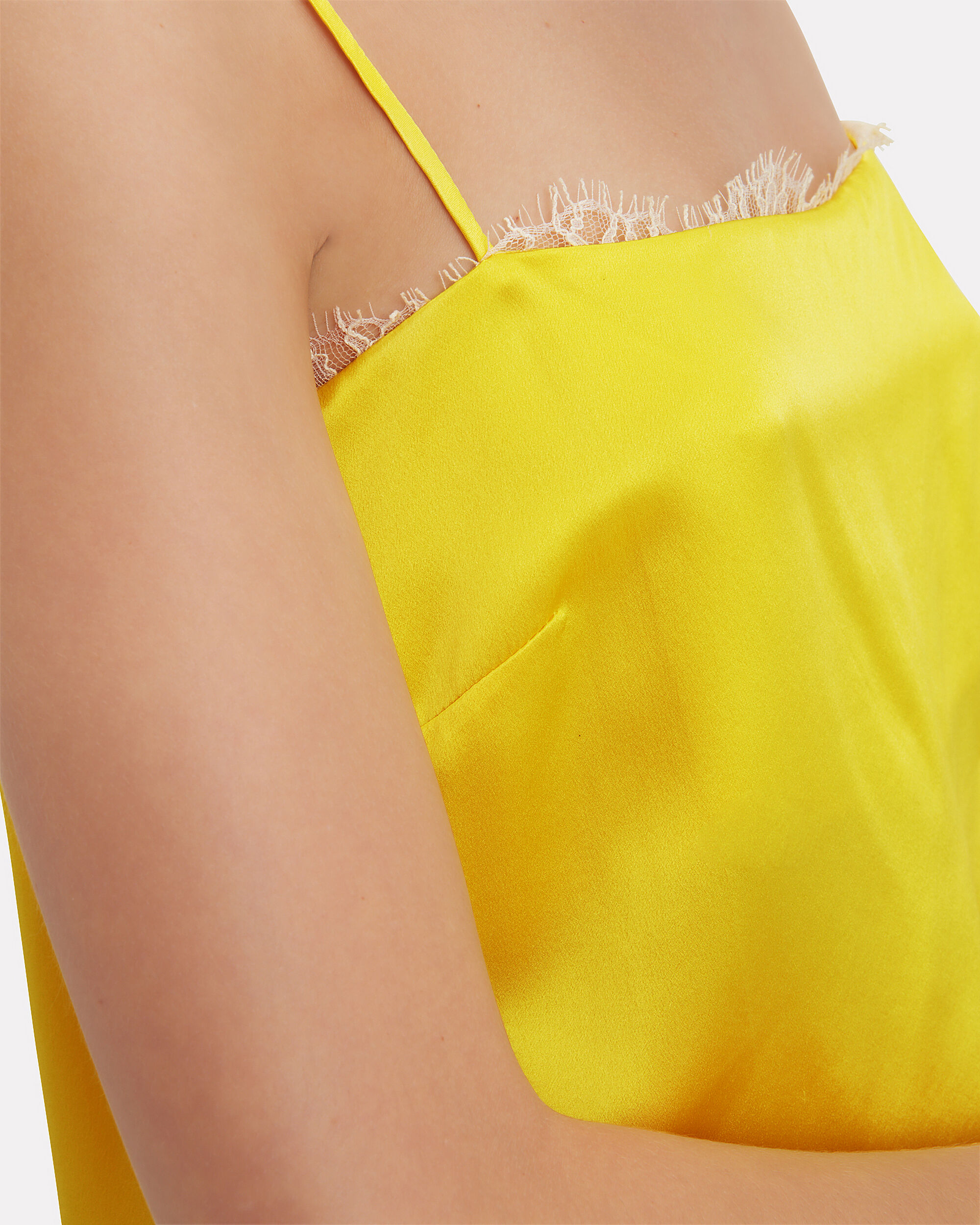 Lace Trim Yellow Cami, YELLOW, hi-res