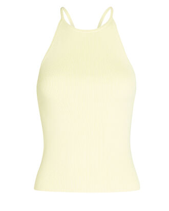 Mackenzie Knit Tank Top, PALE YELLOW, hi-res