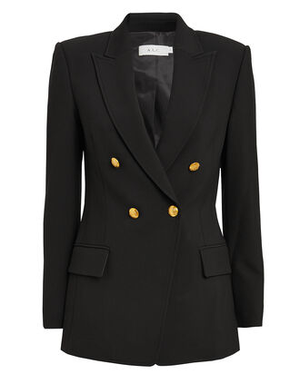 Sedgwick II Double Breasted Blazer, BLACK, hi-res