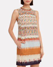 Jacquard Knit Shift Dress, RAINBOW JACQUARD, hi-res