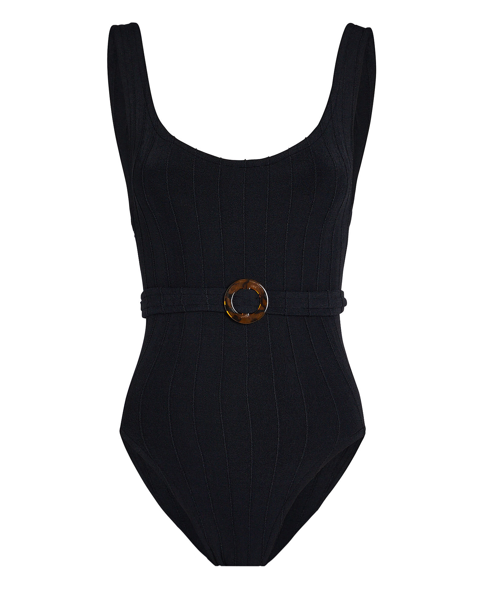Solitaire One-Piece Swimsuit, BLACK, hi-res