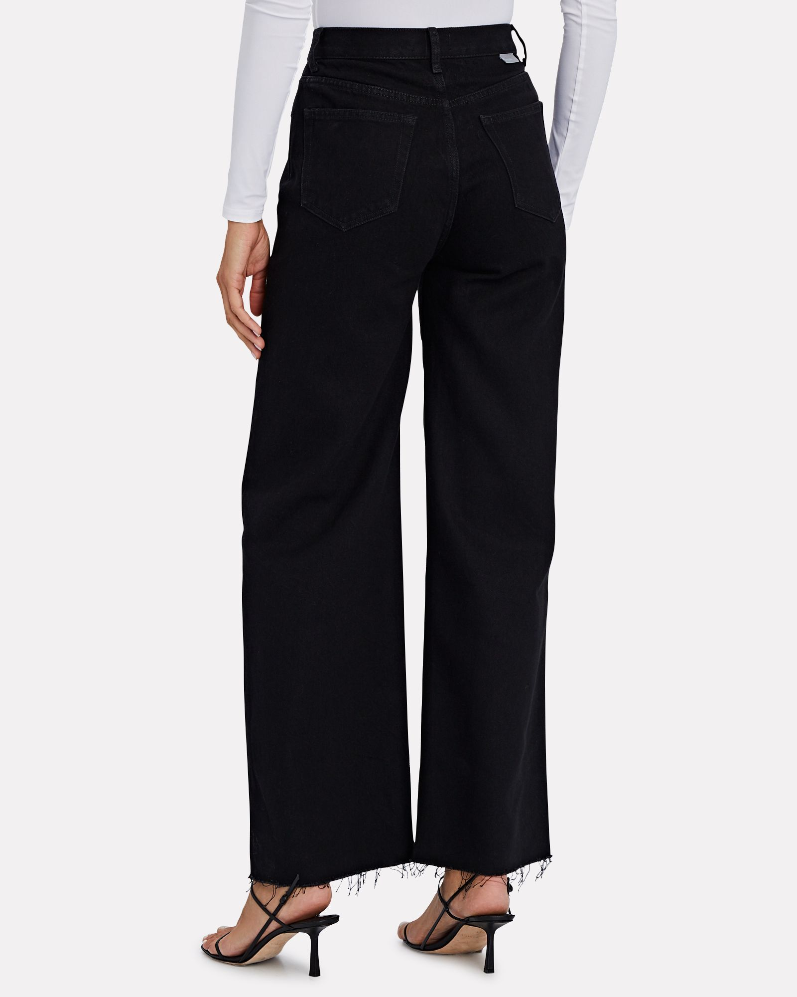 Charley Flared Wide-Leg Jeans, BLACK, hi-res