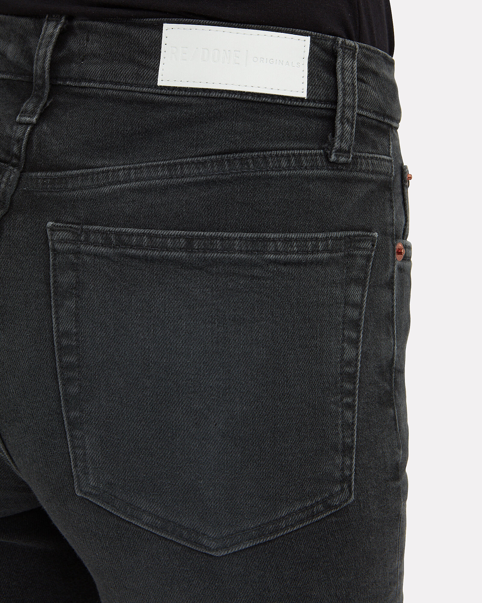 High-Rise Stove Pipe Jeans, BLACK, hi-res