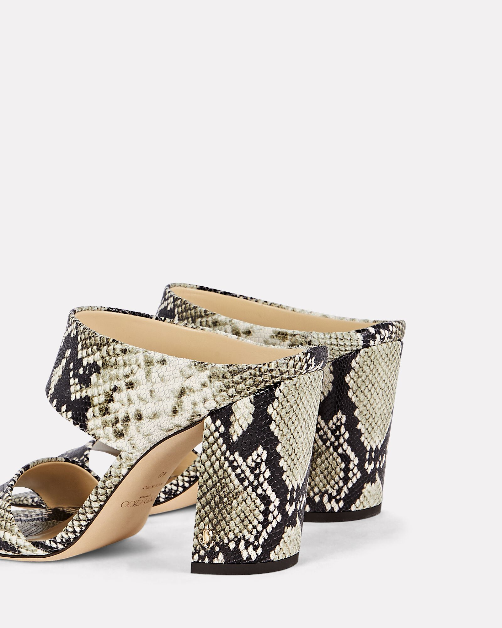 Matty 85 Snake-Embossed Leather Sandals, MULTI, hi-res