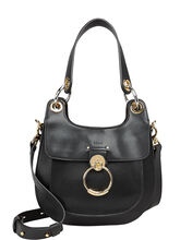 Tess Leather Hobo Bag, BLACK, hi-res