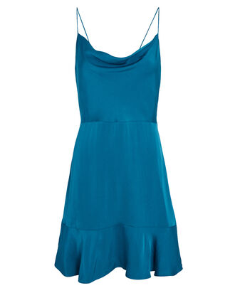 Parker Silk Mini Dress, BLUE-MED, hi-res