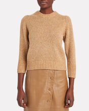 Holly Cotton & Wool-Blend Sweater, BROWN, hi-res