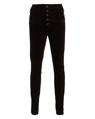 Natasha Sky-High Velvet Skinny Pants, BLACK, hi-res
