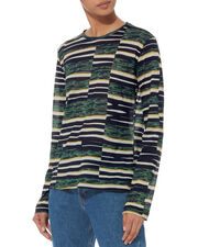 Patchwork Long-Sleeved T-Shirt, MULTI, hi-res
